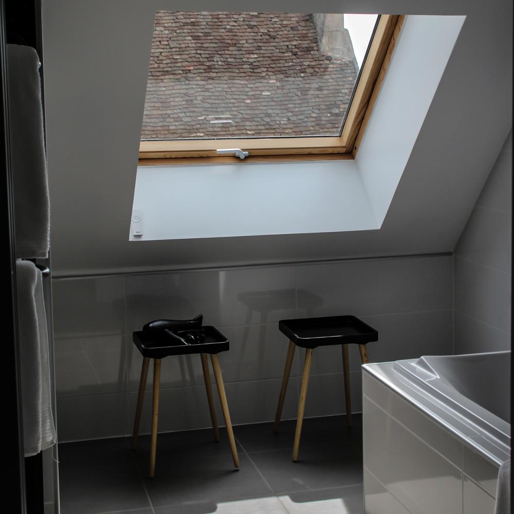 Salle de bain privative avec baignoire